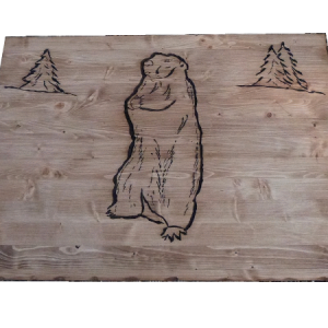 Coffre malle artisanale en bois déco chalet montagne