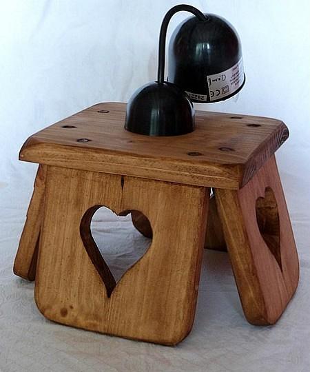 Lustre luminaire artisanal en bois déco chalet montagne