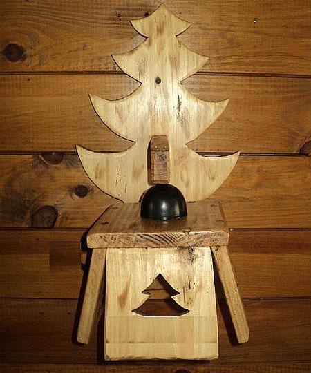 Applique artisanale en bois déco scandinave