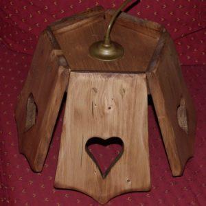 Lustre luminaire artisanal en bois déco scandinave