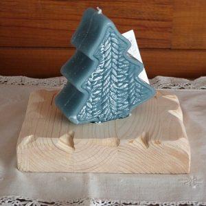 Bougeoir artisanal en bois  deco chalet montagne