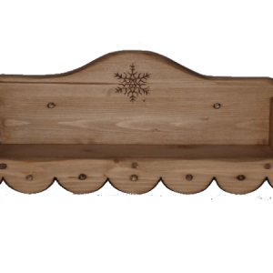 Etagère artisanale en bois déco chalet montagne