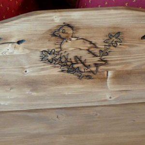 Etagère murale artisanale en bois déco chalet montagne