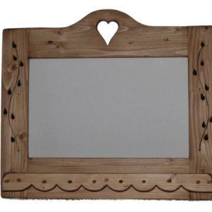 Miroir artisanal en bois deco chalet montagne