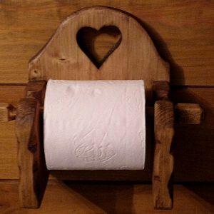 Dévidoir papier toilette artisanal déco chalet montagne