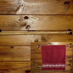 Porte serviette artisanal en bois déco chalet montagne