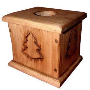 Boîte à mouchoirs en bois déco chalet montagne