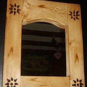 Miroir artisanal en bois déco scandinave shabby chic