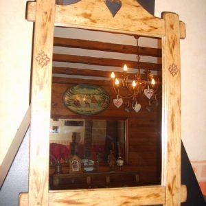 Miroir savoyard artisanal déco chalet montagne