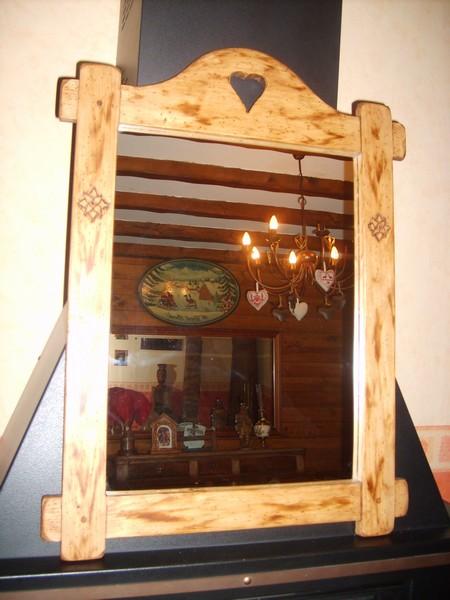 Miroir Savoyard Artisanal Deco Chalet Montagne