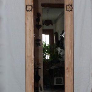 Miroir artisanal en bois déco chalet montagne