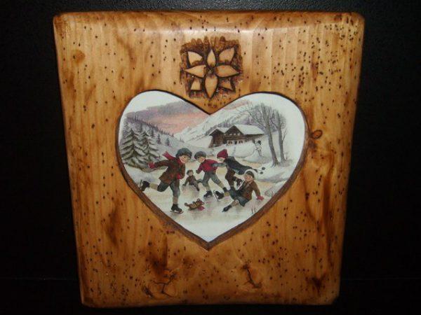 Cadre photo artisanal en bois déco scandinave