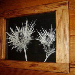 Cadre photo artisanal en bois déco chalet montagne