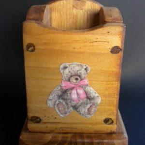 Boîte Pot à crayons artisanale déco chalet montagne