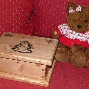 Boîte coffret à bijoux artisanal en bois déco chalet