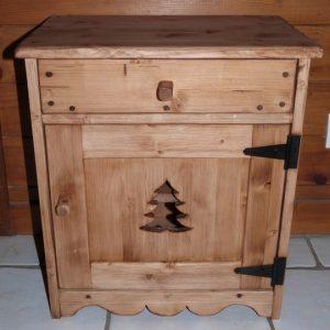 Chevet artisanal bois chalet