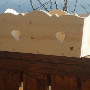 Balconière jardinière en bois déco chalet montagne