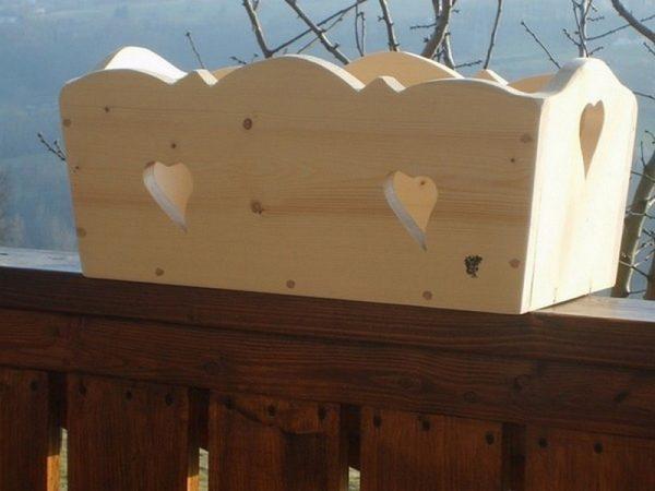 Balconnière artisanale en bois deco chalet montagne