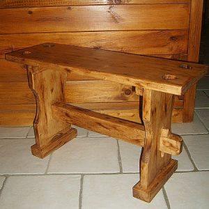 Banc artisanal en bois déco chalet montagne