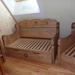 Canapé convertible artisanal sur mesure deco chalet montagne
