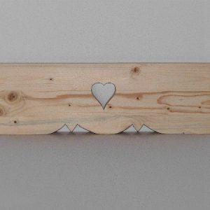 Cantonnière Lambrequin artisanale en bois déco chalet montagne