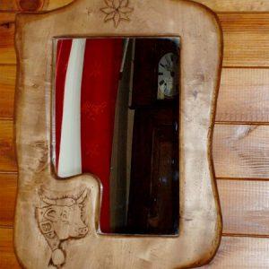 Miroir motif vache déco chalet montagne