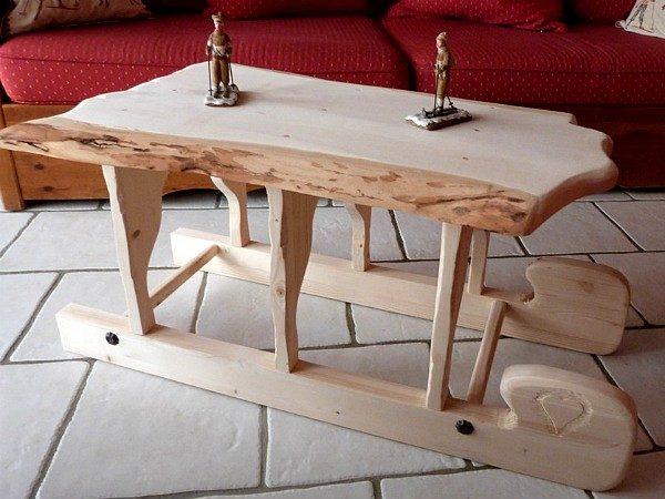 Table basse traineau luge lugeon en pin déco chalet montagne