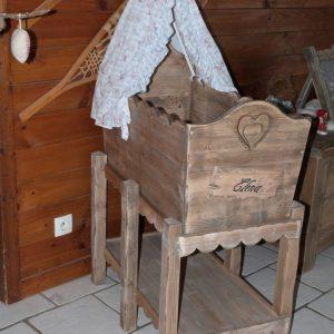 Couffin bébé artisanal en bois 100% écologique